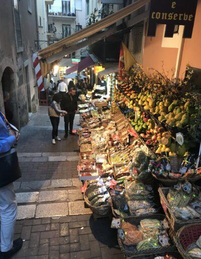 Food market in Taormina