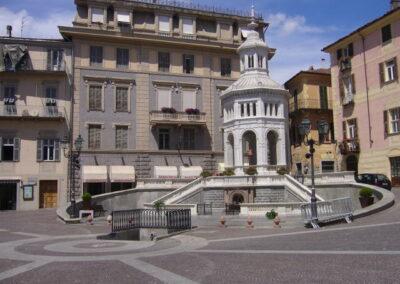 Hot Spring water fountain Acqui Terme