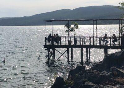 Pier on Lake Bracciano