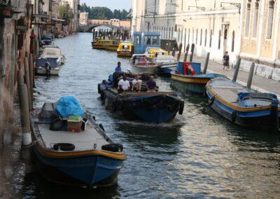 Boat transportation of instruments