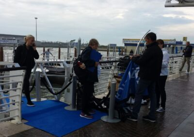 How about branding a private jetty for your event