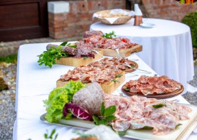 Sliced cold meats platter